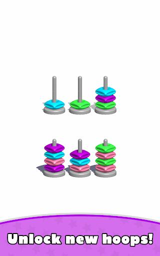 Sort Hoop Stack Color - 3D Color Sort Puzzle  screenshots 14