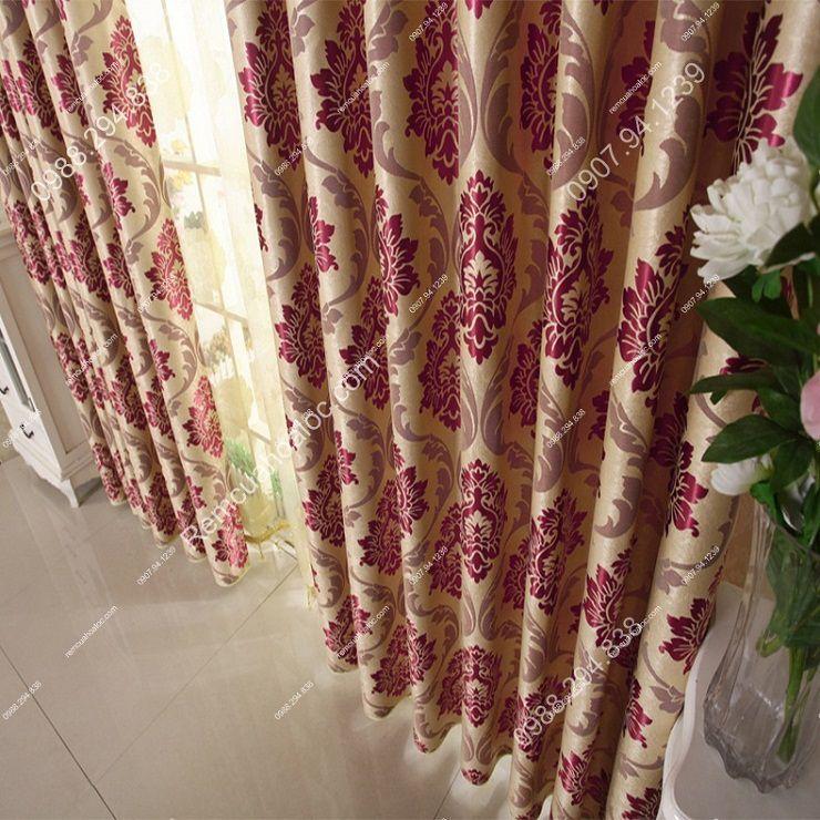 Rèm vải đẹp hà nội vector hoa đông á 16