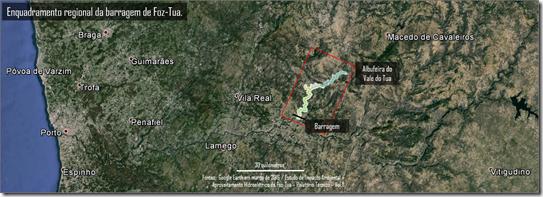 Enquadrameto regional da barragem de Foz-Tua