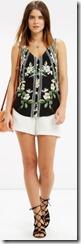 Oasis silk floral vest