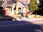 While I was (not so patiently) waiting the Intown 10K-ers to come by, a whole fleet of runners from the GA Marathon training group at Phidippides came running past me on the other side of the road.