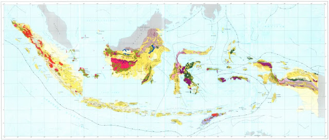 Geology Map of Indonesia