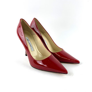 Brian Atwood NEW Red Patent Leather Pumps