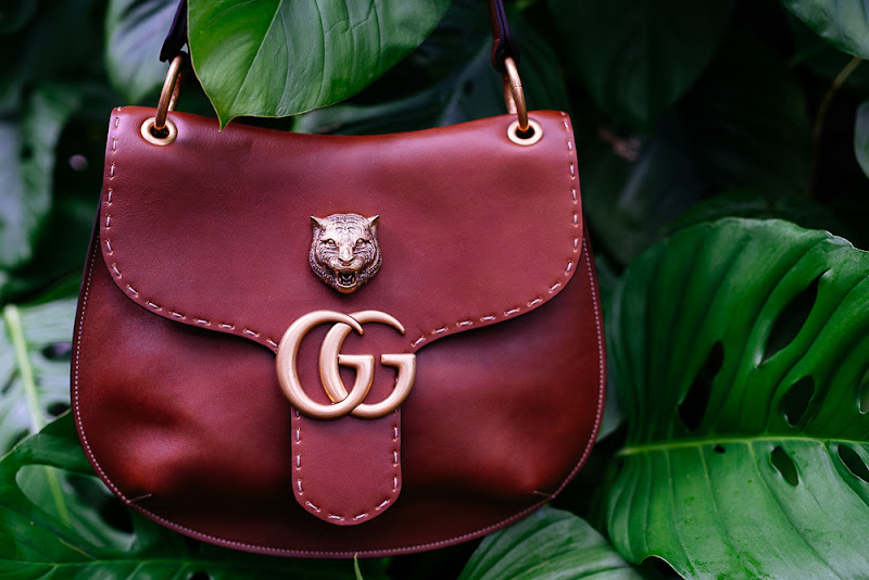 Gucci GG Marmont Shoulder Bag in Brown