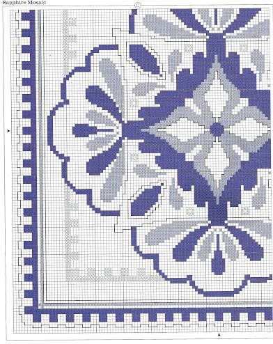 Cuscino zaffiro-schema a punto croce gratuito