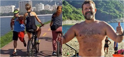 Policial dá cotovelada e derruba mulher de bicicleta no Rio