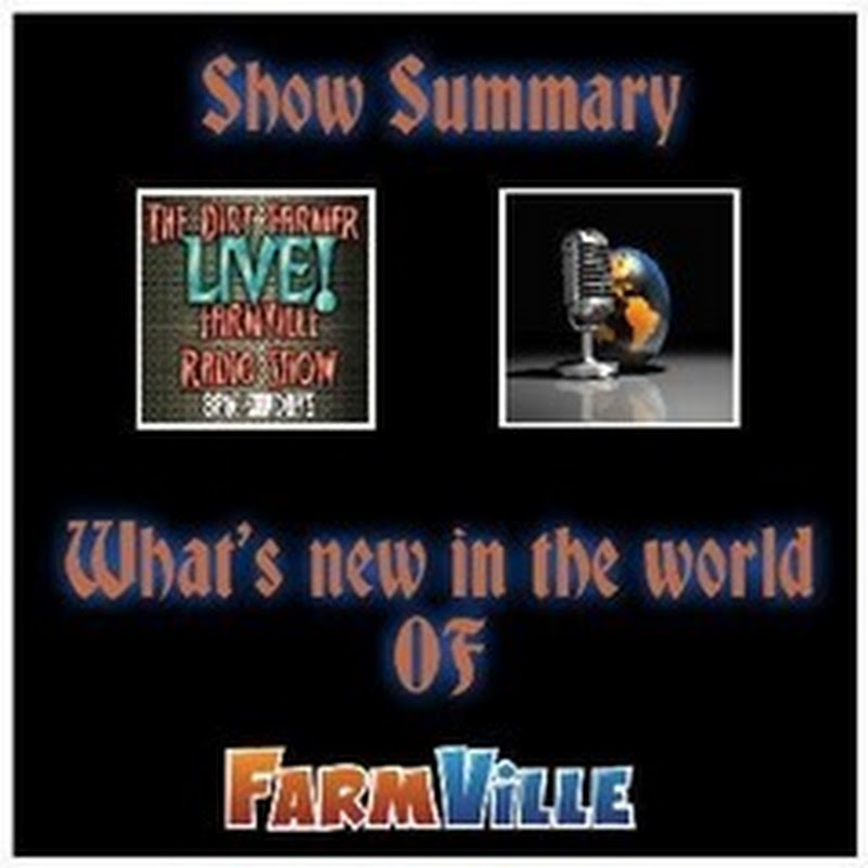 Dirt Farmer Live! Show Summary July 31, 2016