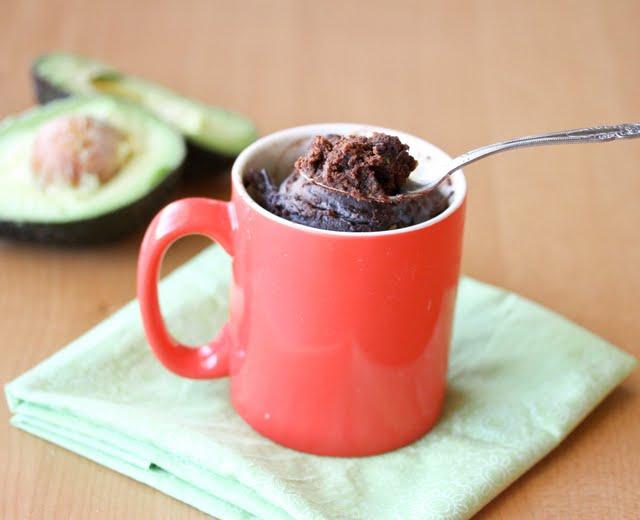 Avocado Brownie Mug Cake