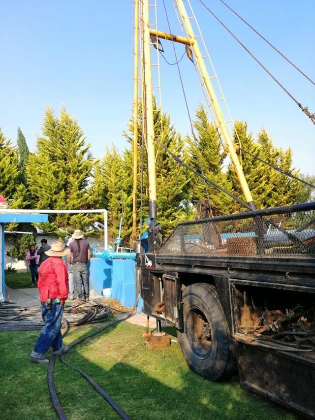 Personal de la CAPAMH realiza trabajos de reparación en el pozo San Luis