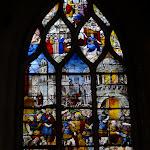 """Église Saint-Pierre de Montfort-l'Amaury : vitrail """"La prison de Saint Pierre"""""""