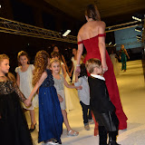 OIC - ENTSIMAGES.COM - Nina Naustdal with Model(s) at the   Nina Naustdal - catwalk show  as Oslo born designer exhibits her aw 2015 couture - ss 2016 and childrens wear collections in collaboration with MTV Staying Alive Foundation in London 27th September 2015 Photo Mobis Photos/OIC 0203 174 1069
