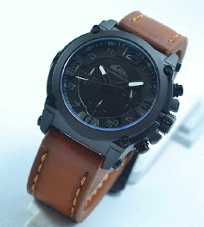 jam tangan  Quiksilver chrono aktif 4lady brown leather white