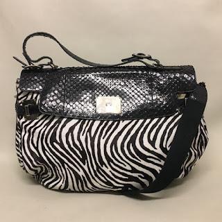 Lambertson Truex Fur & Snakeskin Bag