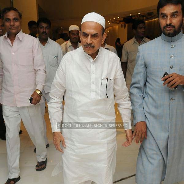 MD Ali during an Iftaar party, hosted by The Times of India and The Park, Hyderabad.