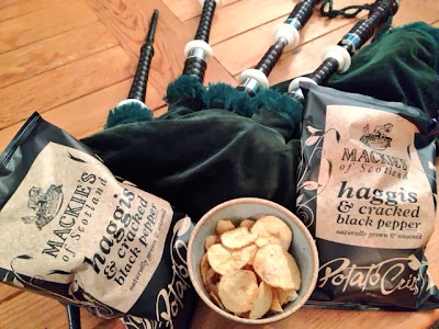 Mackie's Haggis Crisps and Bagpipes
