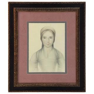 Mark Roberts Signed Renaissance Style Portrait Drawing #1
