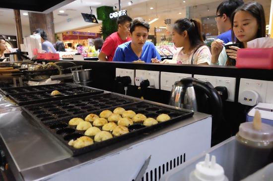 Takoyaki from magstore gurney paragon mall penang