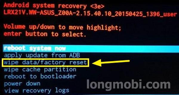 phá mật khẩu máy Asus zenphone android