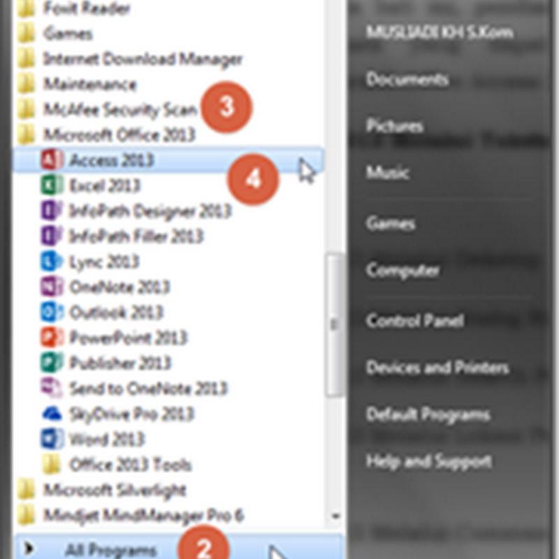 3 Cara Memulai Microsoft Access 2013
