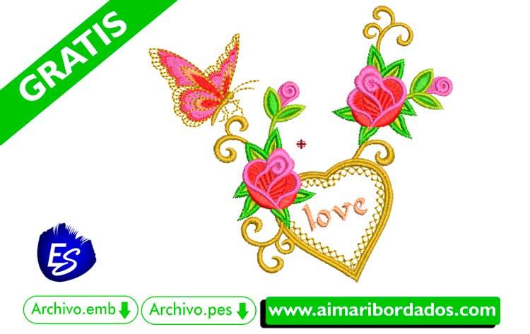 Adorno floral para bordar