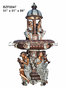 Bronze, Fountain, Musician, Statue, Women
