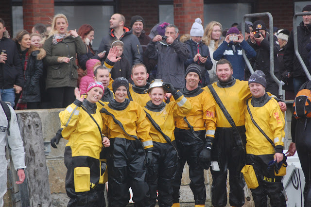 Our intrepid bath tub crew after the race. Bath Tub Race - 1st January 2016.  Photo credit: Dave Riley