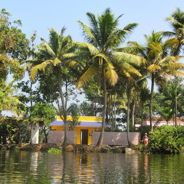 Backwaters of Allephuza, India