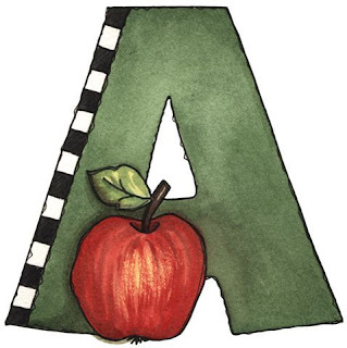 A is for Apple - Painted - Letter A.jpg