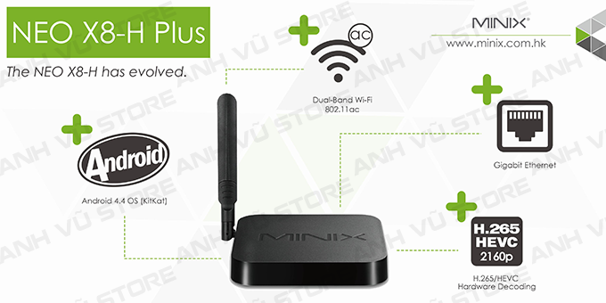 minix neo x8-h plus android tv box + ban phim chuot bay minix neo a2 lite 06