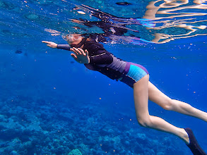 Photo: Hol - a dab-hand at snorkelling now.