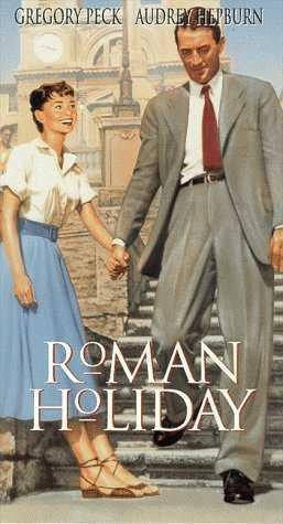 Roman Holiday Vacaciones en Roma Gregory Peck Audrey Hepburn cartel de la película