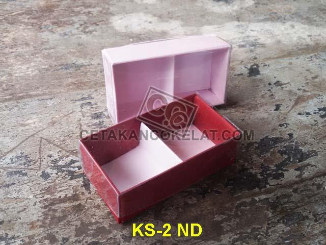 kemasan coklat cokelat sekat mika kotak karton KS-2ND