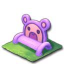 紫のクマベンチ