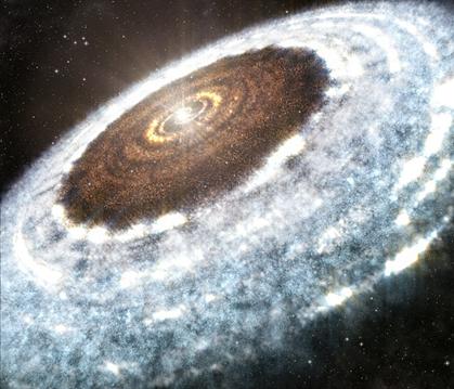 ilustração da linha de neve de água em torno de jovem estrela