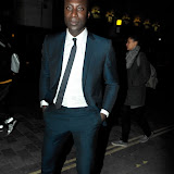 WWW.ENTSIMAGES.COM - Ozwald Boateng  arriving  at  Django Unchained - UK film premiere after Party at Aqua Club ,London January 10th 2013 Photo Mobis Photos/OIC 0203 174 1069