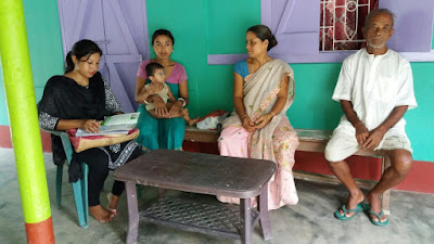 Discussion about immunization, community problems and action plan.
