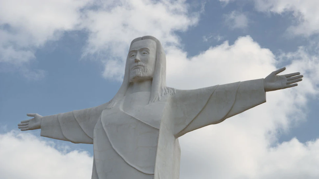 Activists Deface Christ Of The Ozarks Statue In Arkansas With 'God Bless Abortions' Banner