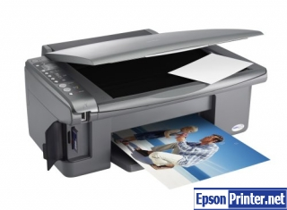 How to reset Epson DX5050 printer