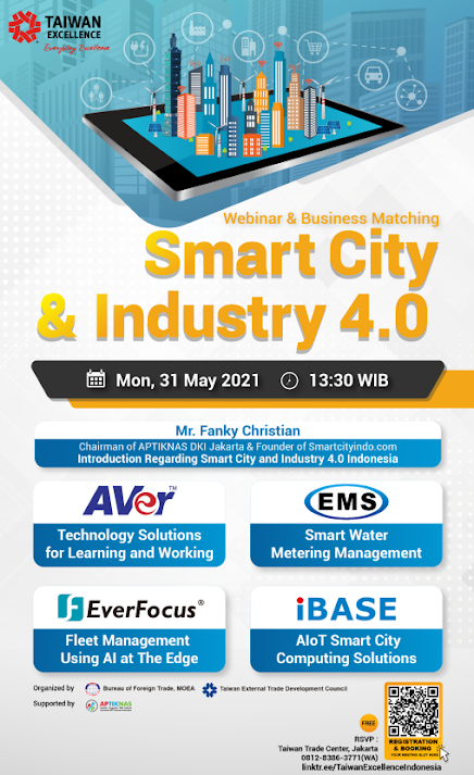 Taiwan Excellence Smartcity & Industry 4.0 Webinar & Business Matching 31 Mei 2021