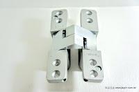 裝潢五金 品名:705S-自動定位暗鉸鍊 規格:25*124m/m 門厚度:1寸2門用 載重:350KG 功能1:崁至門片內,門片關上時看不到鉸鍊 功能2:門片關上時有回歸的功能 玖品五金