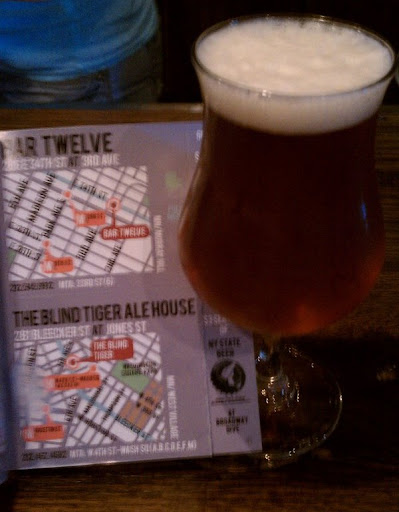 2nd stop: The Blind Tiger Ale House for the Sixpoint Righteous Rye