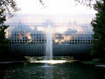 they call this the crystal bridge...the sun was setting through it