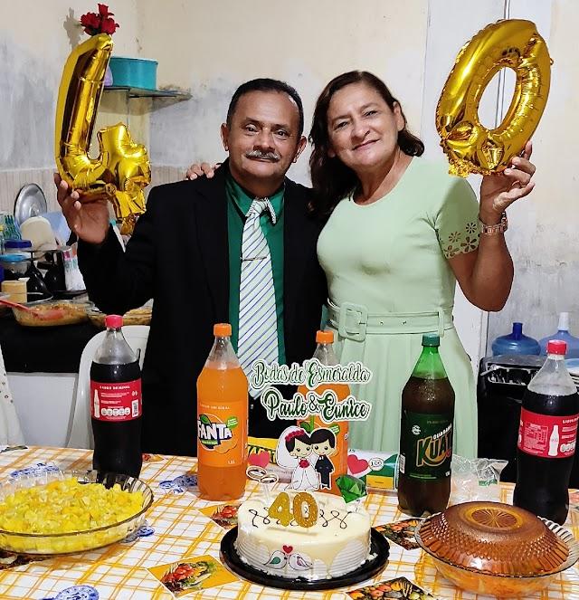 Pastor Paulo Pinheiro comemora 40 anos de casado , a famosa bodas de esmeralda