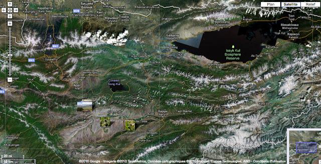 Localisation des photos au Kyrgyzistan (2009)
