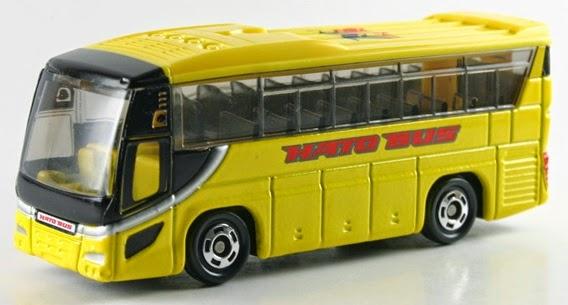 Tomica 42 - Hato Bus màu vàng bắt mắt được làm từ chất liệu sơn an toàn