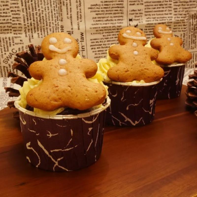 薑餅人杯子蛋糕 【老娘的草根飯堂】