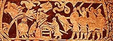 Larbro Stone, Asatru Gods And Heroes
