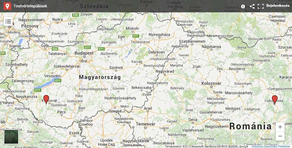 Bárdudvarnok és Csíkszentkirály térkép