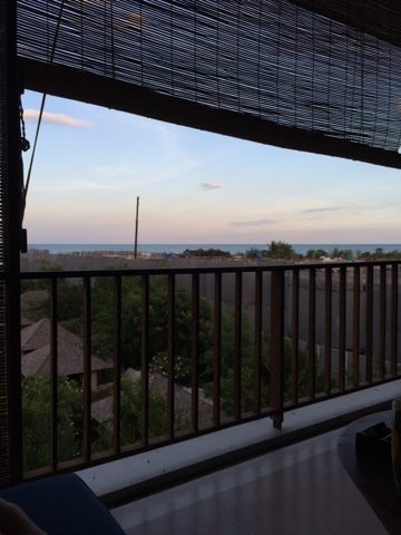 view from balcony room at yaiya resorts, hua hin, thailand