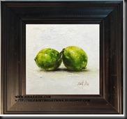 framed Lemon  6x6